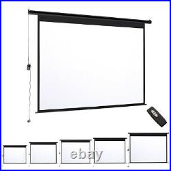 Electric Motorised / Manual Pull-Down Projector Screen 72-120in Home Cinema 43