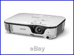 Epson Eb-w12 Home Cinema Hdmi Projector 2800 Lumens New Lamp 5000 Hrs Wxga 1610