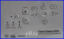 Epson Home Cinema 2150 Wireless 1080p Full 3D Miracast 3LCD Projector White