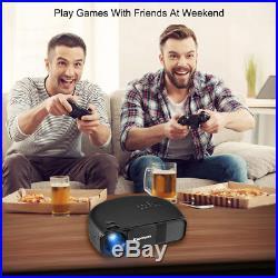 Excelvan 3200Lumens LED Projector 1080P HD 3D Home Cinema HDMI/USB/VGA/AV Moive