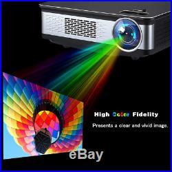 HD 1080P LED Projector Home Theater Cinema 3300 Lumen Multiscreen HDMI VGA USB2