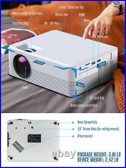 HD 1080P Projektor WiFi Bluetooth LED Portable Multimedia Heimkino Beamer DE