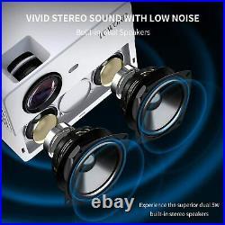 Heimkino Beamer Full HD 1920×1080, Unterstützt 4K, Bluetooth, 7000 Lux, 300 Zoll