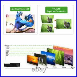 High 8500 Lumens DLP Android 4K Wifi 3D Projector Wireless HD 1080P Home Cinema
