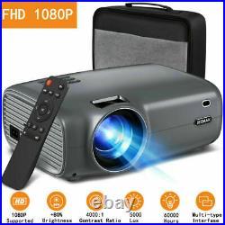 JEEMAK 4K Mini LED Portable Projektor Heimkino Beamer Home Multimedia SD HDMI DE