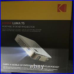 KODAK Luma 75 Mini Portable Projector HD 1080p Support DEL DLP Rechargeable Zz