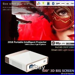 Konka 4K Ultra HD DLP Laser Projector 3D WIFI Short Throw Home Theater Cinema UK