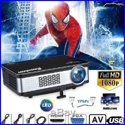 LCD LED HD 1080P Projector Home Theater 3300Lumen HDMI VGA USB AV SD Multimedia
