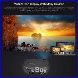 LED 3200 Lumens FHD 1080P 3D Video Projektor Multimedia Heimkino Beamer HDMI USB