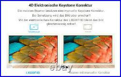 LED Beamer Full HD 1920x1080P LCD Heimkino Video Projektor 1080p Tv schwarz NEU
