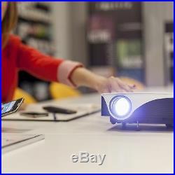 LED Beamer Projektor Projector Heim Kino Film Video mit WLAN Android 1080px