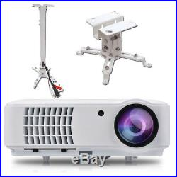 LED Full HD Beamer 1920x1080 LCD Heimkino Projektor inkl. Halterung OVP & NEU