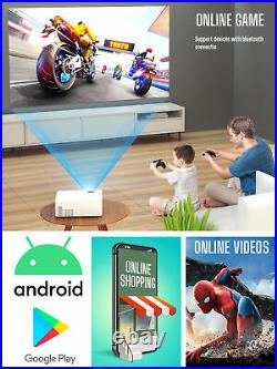 LED Full HD Wifi Blue tooth Mini Projektor Android 9.0 Heimkino Beamer TV Spiel