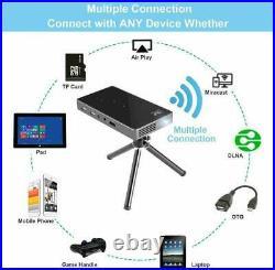 Mini 3000 Lumens Wifi DLP Android 7.1 Home Theater Projector HD 1080P AV HDMI In