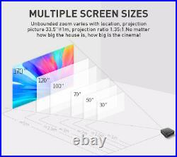 Mini DLP 4000 Lumens Android 3D HD 1080P Home Theater Projector WIFI HDMI 4+32GB