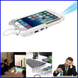 Mini DLP Mobile Cinema Home Theater LED Projector HDMI For iPhone 6 6S Plus 5 5S