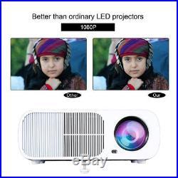 Mini LCD LED Projector Home Multimedia Theater Cinema 1080P 3D HDMI SD USB VGA F