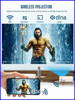 Mini LED Android 9.0 WLAN Beamer Bluetooth HD 1080P Heimkino Projektor Halterung