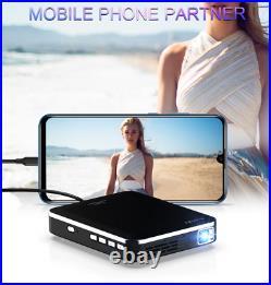 Mini Pocket 3000 Lumens DLP Wifi Home Theater Projector HD 1080P Cinema HDMI In
