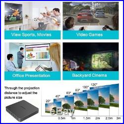 Mini Pocket 5500 Lumens 4K Android Cinema Wifi DLP 3D Home Theater Projector New