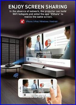 Mini Pocket Android Projector HDMI USB SD Wifi 1080P HD 4K Home Cinema 3500Lumen