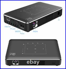 Mini Portable 2G+16G DLP Android Wifi 4K 1080P HD Home Theater Projector HDMI UK