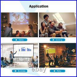 Mini Portable Video Movie Projector bundle Home 5000Lux 1080P FHD 200'' Display