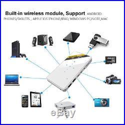 Mini Portable Wifi Pocket Projector LED DLP Miracast Smart Home Theater Cinema