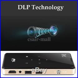 Mini Projector Android 5.1 4K Bluetooth DLP Dual WiFi 3D HD HDMI Home Theatre
