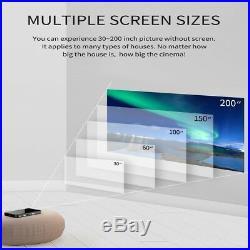 Mini Projektor BT4.2 HD 1080P Tragbar WiFi Bluetooth Beamer für Android Handy