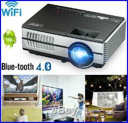 Mini Voll HD Android 6.0 Wifi Projektor Mini Blue tooth Heimkino Beamer TV Spiel