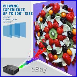 Multimedia 4K WiFi Android Bluetooth LED Heimkino-Projektor 7000 Lumens Set