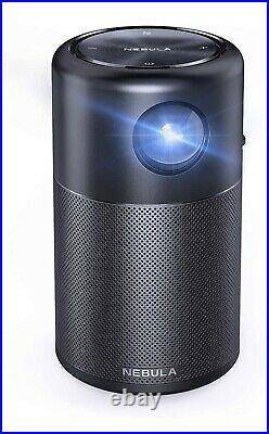NEBULA Capsule von Anker, Mini Beamer mit WLAN, Minimalistischer Projektor