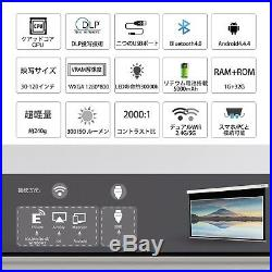 NEW AODIN Mobile DLP Mini Projector D05-T89A Black Japanese Model From Japan