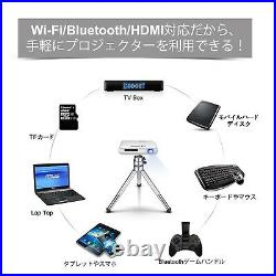 NEW AODIN Mobile DLP Mini Projector D05-T89A Silver Japanese Model From Japan