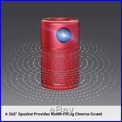 NEW! Nebula Capsule Smart Mini Projector Portable Pocket Cinema Wi-Fi DLP RED