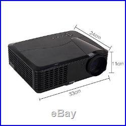 New 4500 Lumens 1080P Home Cinema HDMI USB VGA 3D Video LED Projector DE Stock