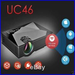 New mini UC46 Wifi LED Video Projector 3D Home Theater TV/USB/VGA 1080P HDMI