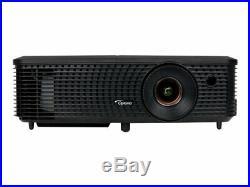 Optoma H114 3400 LMNS FULL 3D WXGA 1610 HOME CINEMA PROJECTOR NEW LAMP 8000 HRS
