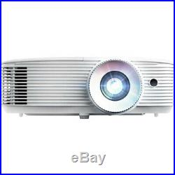 Optoma HD27HDR 3400 Lumens 1080p Home Theater Projector White + Warranty Bundle