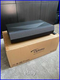 Optoma P1 UHZ65UST (Black) Laser DLP 4K UHD HDR 3D Ultra-Short Throw Projector