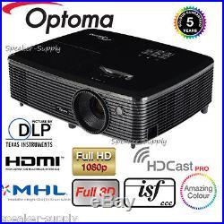 Optoma Wireles HD142X Full 3D DLP Home Theater Projector 1080P HDMI 3000 Lumen