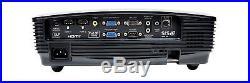 Optoma hd131x HDMI HOME CINEMA PROJECTOR 2000 LUMENS NEW LAMP FULL HD 3D
