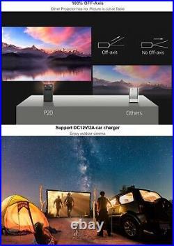 P20 BYINTEK Portable Pocket 4K 3D LED DLP Android 9.0 Smart Projector Gift Idea