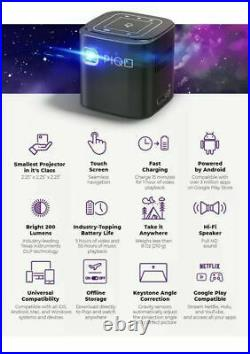 PIQO Pocket Projector Mini Travel Projector HD 1080p Smart Powerful Best UK