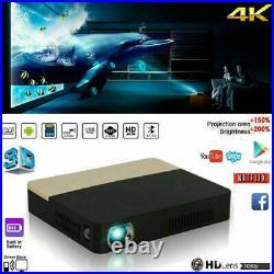 Portable 8500 Lumens DLP HD 1080P Projector Android 3D Wifi 4K Cinema HDMI AV UK