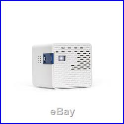 Portable Mini Cube LED Projector Rechargeable Battery 1280x720p HD Media Player