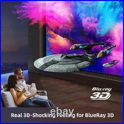 Portable Mini Smart DLP Home Cinema Projector Full HD 1080p 8000 Lumen 4K 3D NEW
