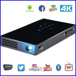 Portable Smart Projector Bluetooth Mini WIFI DLP Home Cinema Theater HD WIFI USB