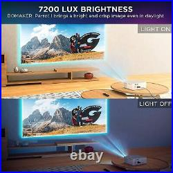 Projector, BOMAKER 7200 Lux Native 1080P Projector, 5D Keystone Outdoor Movie